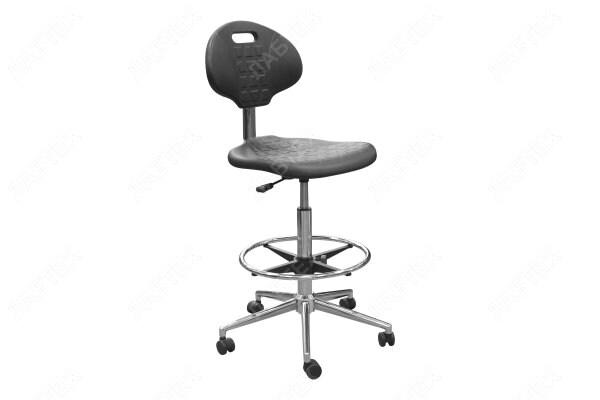 Кресло лабораторное КР12-В с подставкой для ног, хром