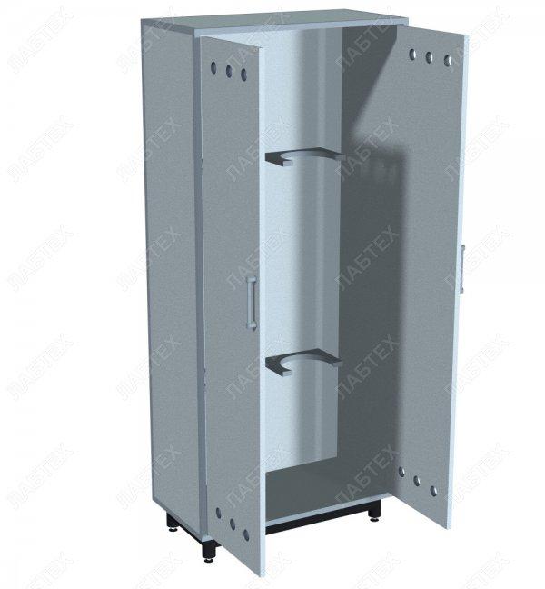 Шкаф для баллонов ЛАБТЕХ-ШБ-2 двухсекционный, 800*420*1800