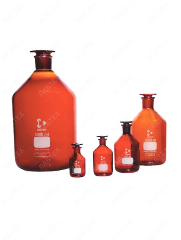 Склянка для реактивов DWK (Schott Duran)    25 мл, темная, узкое горло, 211681405