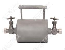 Пробоотборник для газов ПГО-1000 (5МПа; + 2 вентиля), 1000см3 / пробоотбор по ГОСТ 14921