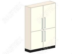 Шкаф для хранения ЛАБТЕХ Профи-4 лабораторный металлический, 1200*500*1900