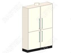 Шкаф для хранения ЛАБТЕХ Профи-5 лабораторный с патрубком, 1200*500*1900