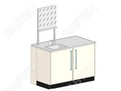 Стол мойка ЛАБТЕХ ПроМо-1ДК левая двухдверная с сушилкой