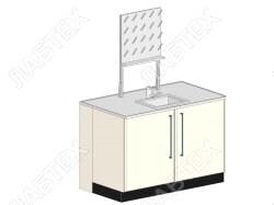 Стол мойка ЛАБТЕХ ПроМо-2К центральная двухдверная с сушилкой