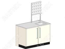 Стол мойка ЛАБТЕХ ПроМо-3К правая двухдверная с сушилкой