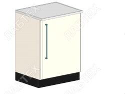 Стол тумба лабораторный ЛАБТЕХ ПроСт-11А однодверный, 600*650*900