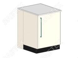 Стол тумба ЛАБТЕХ ПроСт-21Д однодверный лабораторный