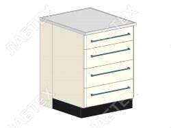 Стол тумба ЛАБТЕХ ПроСт-22Т с 4-мя ящиками лабораторный