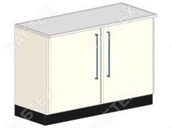 Стол тумба лабораторный ЛАБТЕХ ПроСт-31ДК двухдверный, 1200*650*900