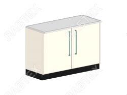 Стол тумба ЛАБТЕХ ПроСт-31Т двухдверный лабораторный