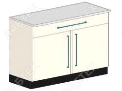 Стол тумба лабораторный ЛАБТЕХ ПроСт-33К двухдверный с ящиком, 1200*650*900