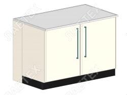 Стол тумба лабораторный ЛАБТЕХ ПроСт-41Т двухдверный, 1200*900*900
