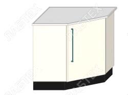 Стол тумба лабораторный ЛАБТЕХ ПроСт-71А однодверный, для внешних угловых переходов, 900*900*900