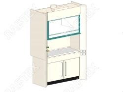 Шкаф вытяжной ЛАБТЕХ ШВП-1Д-В лабораторный, взрывобезопасное исполнение, 1500*900*2400