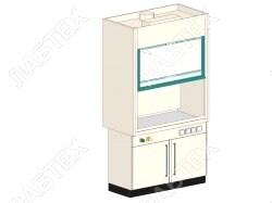 Шкаф вытяжной ЛАБТЕХ ШВП-2А лабораторный, 1200*800*2400