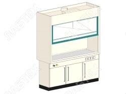 Шкаф вытяжной ЛАБТЕХ ШВП-3К-В лабораторный, взрывобезопасное исполнение, 1800*800*2400