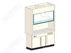 Шкаф вытяжной ЛАБТЕХ ШВП-4А-В лабораторный, взрывобезопасное исполнение, 1500*800*2400