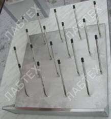 Сушилка для лабораторной посуды настенная ЛАБТЕХ-СУ-2 (нержавеющая сталь, 18 штырей)