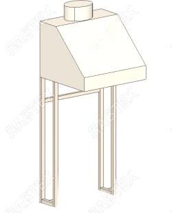 Зонт вытяжной В-1 малый 550*600*1310