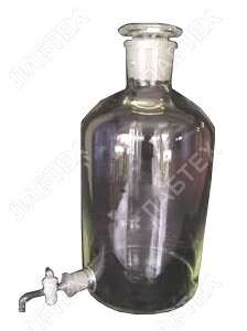 Бутыль Вульфа 10 л Klin с тубусом и краном