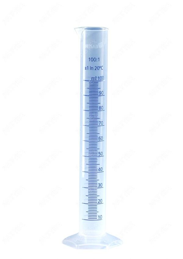 Цилиндр мерный 500 мл Vitlab РР, класс B, с цветной шкалой